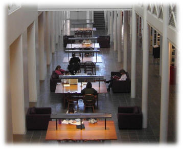 Library Study Tables in the Atrium