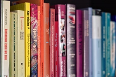 Picture of colorful books
