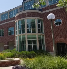 Photo of the front of Pickler Memorial Library