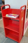 picture of a library red cart