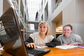 Picture of students studying