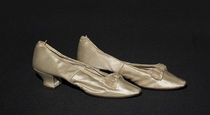 Wedding Slippers, ca 1890.  | E.M. Violette Museum Collection.