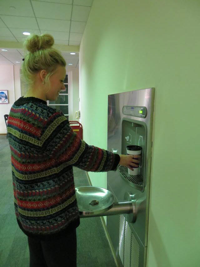 Water foutain withbottle filling station.