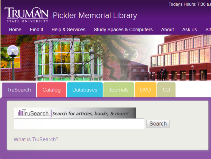 image of Library web site