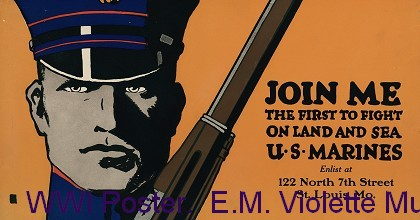 WWI Poster.  E.M. Violette Museum Collection. |